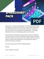 _START HERE_ Spreadsheet Quick Start Guide