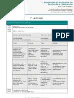 Programação - Seminário de pesquisas em Educação e Linguagem