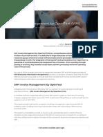 Sap Invoice Management by Opentext Vim