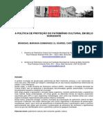 A POLÍTICA DE PROTEÇÃO DO PATRIMÔNIO CULTURAL EM BELO HORIZONTE.pdf