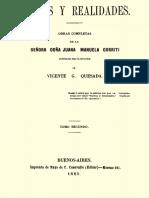 Sueños y Realidades - Juana Manuela Gorriti TOMO II
