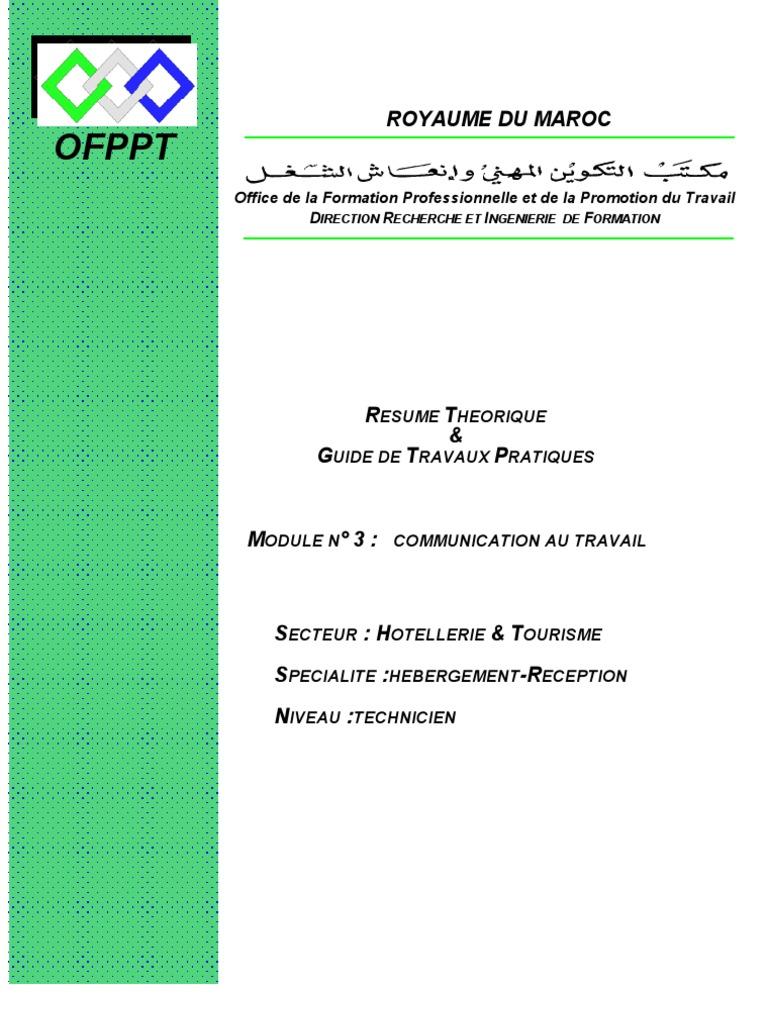 module ofppt cuisine