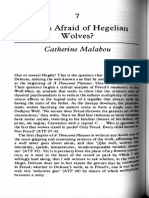 "Catherine Malabou ""Who is Afraid of Hegelian Wolves """