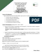 Contrôle Continu de La Thermodynamique (Dr. OUDRANE A.)
