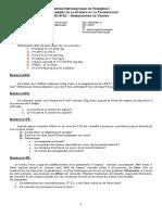 TD-01-M02 Générateurs de Vapeur (Dr. OUDRANE A.)