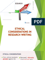 Ethical Considerations in Research Writing