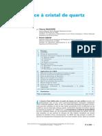 p2220Microbalance à Cristal de Quartz