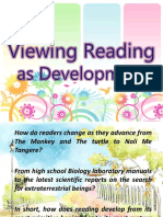 Viewing Reading as Devt.