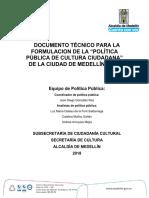 DOCUMENTO TÉCNICO PARA LA FORMULACION DE LA PPCC