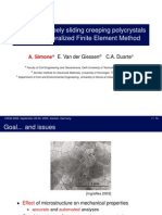 Analysis of freely sliding creeping polycrystals with a Generalized Finite Element Method