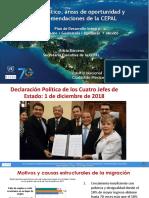 Diagnóstico, Áreas de Oportunidad y Recomendaciones de La CEPAL-2005-2019