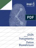 Guia para el tratamiento de Datos Biometricos