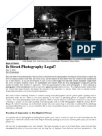is street photography legal