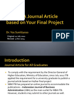 journal article based on final project