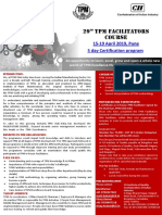 29th Tpm Facilitators Course