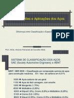 CLASSIFICAÇÕES E APLICAÇÕES DOS AÇOS 8.2.ppt