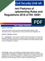 IRR 2018 of RA 10591