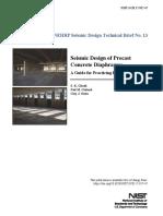 Seismic Design of Precast Concrete Diaphragms