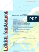 I diritti fondamentali - Alla luce della Carta di Nizza e del Trattato (19 e 22 novembre 2010)