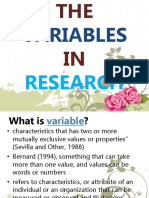 The Variables in Research