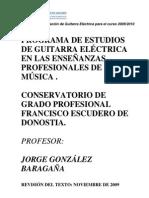 GUITARRA ELECTRICA-GP-Version Reducida Para El Publico