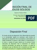 10. CALSE DISPOSICIÓN FINAL DE RESIDUOS SÓLIDOS