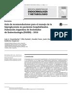 Recomendaciones de Manejo Hiperglucemia en Pacientes Hospitalizados