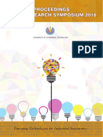 Proceedings of University of Vocational Technology Research Symposium 2018