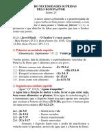 Quatro Necessidades Supridas Pelo Bom Pastor - Sl 23