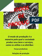 Modos de Produção - Evolução das Sociedades