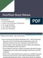 Klasifikasi Bunyi Bahasa Fonologi Kel 2