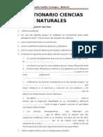 CUESTIONARIO CIENCIAS NATURALES