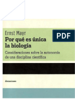 ¿por qué es unica la biología? Ernst Mayr
