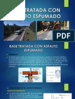 Base tratada con asfalto espumado