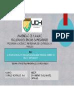 Política fiscal y la formalización de las MYPES en el distrito de Pillco Marca 2019. DIAPOSITIVAS.