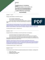 Cuarta Práctica Calificada - Gestión de Inversiones I - 2019-1 - Preguntas y Respuestas