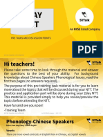 Pre Training Tasks (Given by Pso to Teachers)(1)