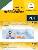 How to sign SA