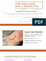 Tocilizumab giant cell arteritis