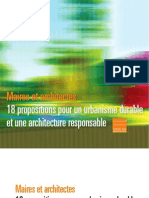 Maires Et Architectes 18 Propositions Pour Un Urbanisme Durable Et Une Architecture Resp on Sable