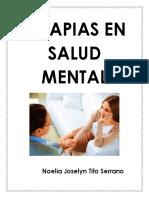 Terapias en Salud Mental
