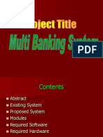 Multi Banking System Project PPT