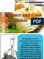 Prepare and Cook Egg Dishes