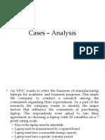 Cases - Analysis