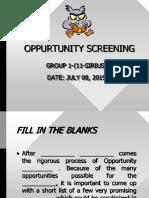 Opportunity Screening