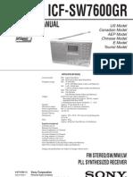 Icf-sw7600gr Service Manual v1.1