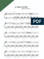 Acordeon Vals de Amelie Partitura Score Partitions Accordeon Accordion Fisarmonica Akkordeon(2)