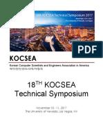 KOCSEA 2017 Symposium Booklet