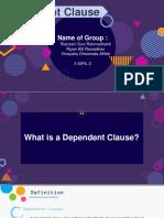 Dependent Clause (3 Sipil 2 Kel 3)