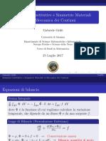 Relazioni costitutive e simmetrie materiali in meccanica dei continui
